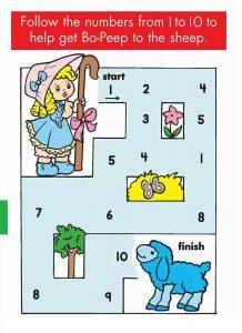 kindergarten counting & numbers mazes worksheets (2)