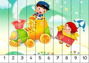 kindergarten number order puzzles (2)