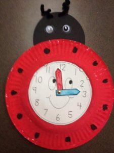 ladybug clock crafts