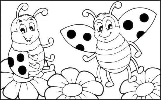 Ladybug coloring page 2 funnycrafts for Coloring pages of ladybugs