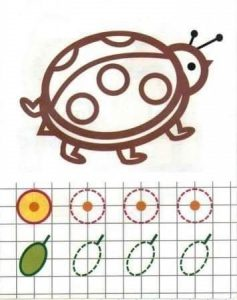 ladybug tracing and coloring worksheet