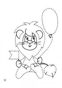 lion tracing practice sheets