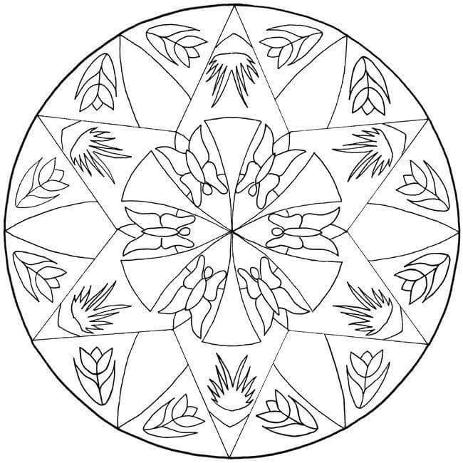 Mandalas Coloring Pages Printables 2 Funnycrafts Mandala Coloring Pages Printable