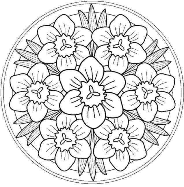mandalas coloring pages printables 3 funnycrafts