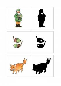 matching pictures to shadows worksheets