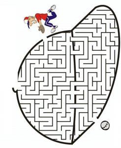 maze worksheet sport