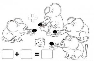 mouse addition worksheet