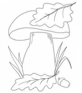 mushroom pre writing sheets (3)