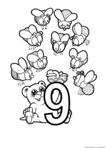 nine coloring page