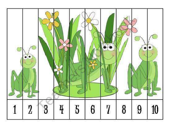Math And Science Classroom Decorations ~ Number recognition ordering puzzle preschool printables