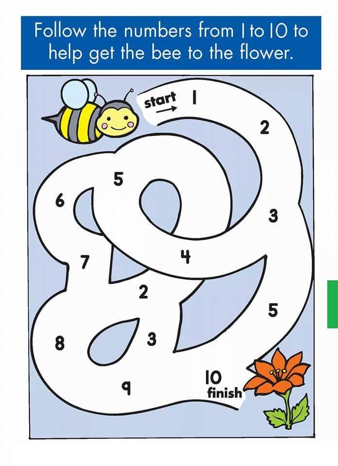 Number Sequence Maze 1 171 Preschool And Homeschool