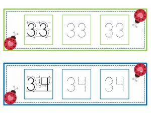 numbers tracing line (17)