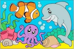 ocean animal coloring page