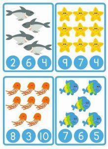 ocean animals counting worksheet (1)