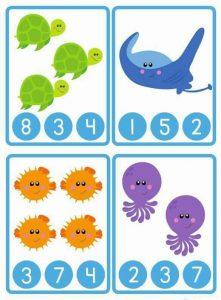 ocean animals counting worksheet (2)