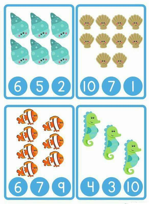 ocean animals counting worksheet
