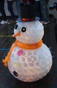 paper cup snowman crafts