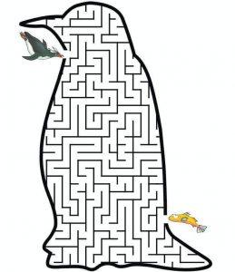 penguin maze worksheets