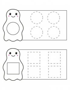 penguin shapes trace the lines sheet (2)