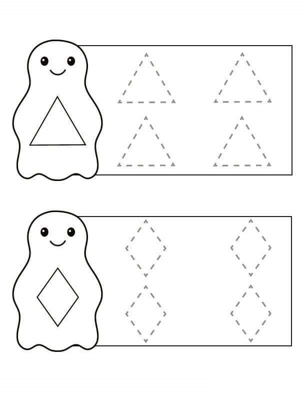 penguin shapes trace the lines