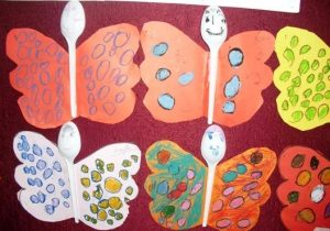 plastic spoon butterfly