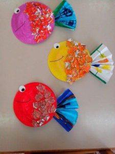 plate fish craft for preschoolers