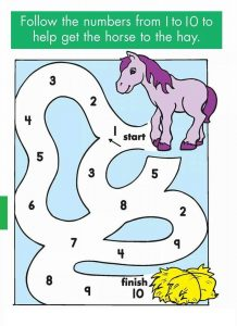 practice number sequence with number maze 1-10 (1)