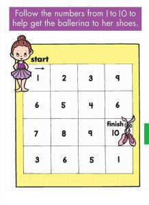 practice number sequence with number maze 1-10 (2)