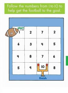practice number sequence with number maze (1)