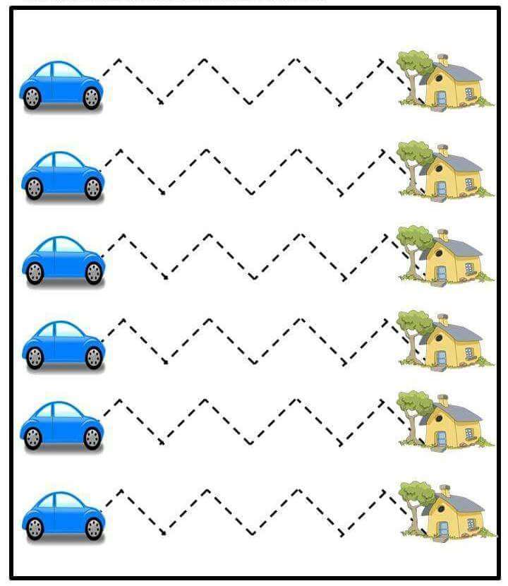 Preschool Trace The Lines Sheet 1 Preschool And Homeschool