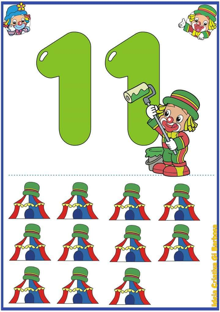 Printable Number Flash Cards 1 To 20 1 Preschool And