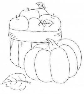 pumpkin pre writing sheet