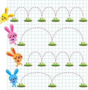 rabbit prewriting skills preschool worksheets