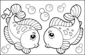 sea animalscoloring page