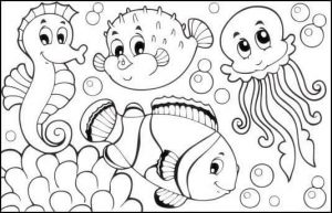 sea horse coloring page (2)