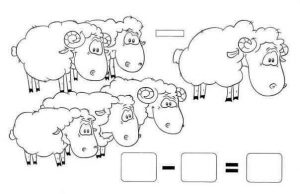 sheep addition worksheet
