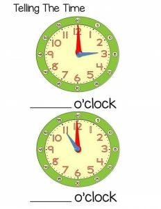 time worksheet o'clock for kids (1)