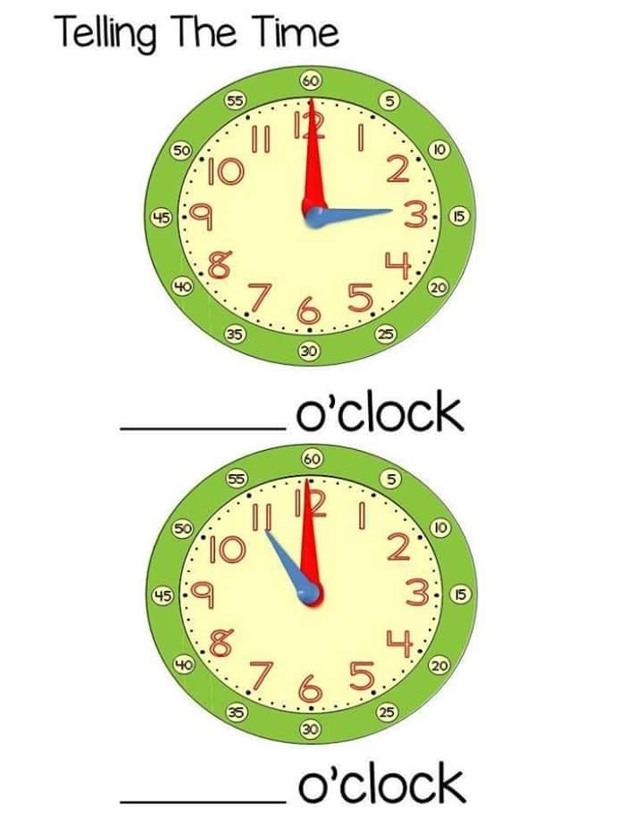 time worksheet o\'clock for kids (1) « funnycrafts