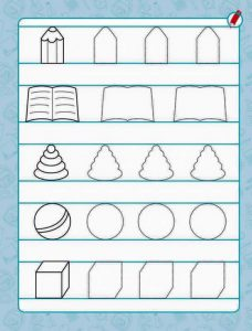 toys pre writing sheet