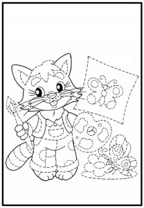 tracing and coloring worksheet