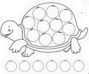 turtle pre writing sheet