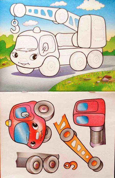 vehicles cut and paste worksheets