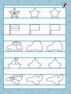 vehicles pre writing sheet