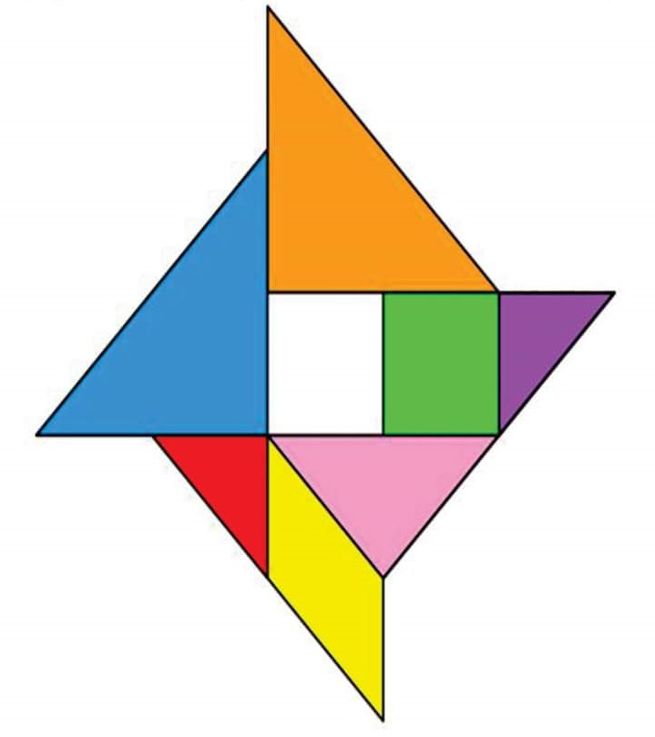Wind Rose Tangram on Free Math Worksheets To Print Out Paper