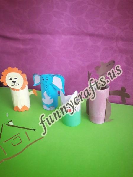 toilet paper rolls animals