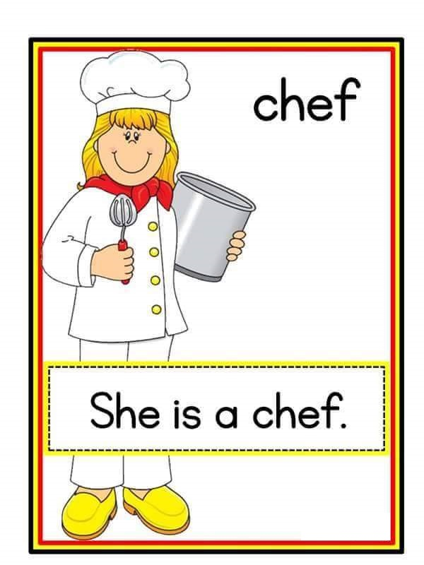 Chef coloring pages for kids