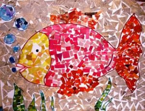 Mosaic fish crafts (1)
