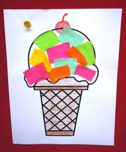 Mosaic ice cream craft