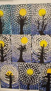 Mosaic trees craft