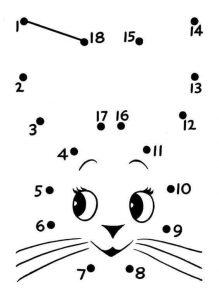 animals dot to dot sheet